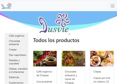 imagen de página web de Dusvie