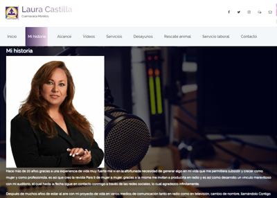 imagen de página web de Laura Castilla