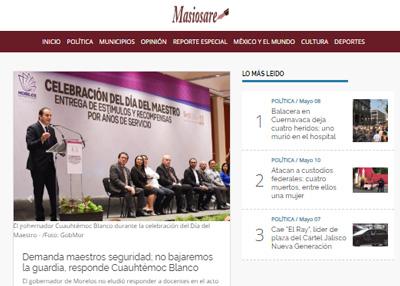 imagen de página web de Masiosare