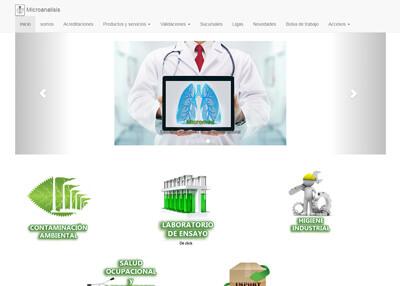 imagen de página web de Microanalisis