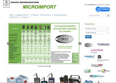 imagen de página web de Microimport