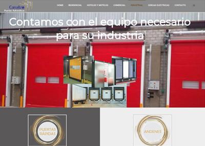 imagen de página web de Puertas Automáticas Canalizo