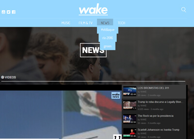 imagen de página web de wake